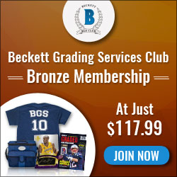 Beckett Grading Services Club Bronze Membership