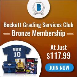 Beckett Grading Services Club Bronze Membership
