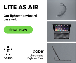 LITE AS AIR. Our lightest keyboard case yet. Belkin QODE Ultimate Lite Keyboard Case.