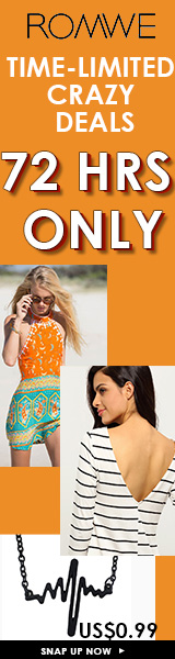 Select dresses, blouses, vests, & jumpsuits all under $10 for a limited time only at ROMWE.com! Ends