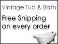 ALWAYS Free Shipping @ VintageTub.com
