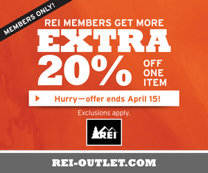 REI OUTLET 20% Coupon