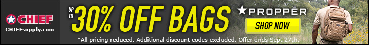 Propper Tactical Bags up to 30% Off @ CHIEFSupply.com