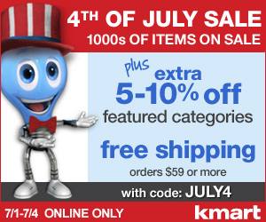 7/1-7/4 - Online Only 4th of July Sale! Thousands of Items on Sale + EXTRA 5-10% off and FREE Ship