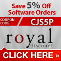 5% Off Software at RoyalDiscount.com