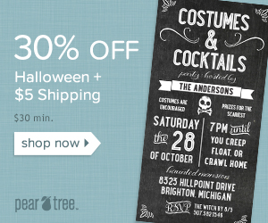Flash Sale: Halloween Sale 30% off $30 min + $5 Flat Rate Shipping with code ZOMBIE valid 9/14-9/15