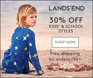 30% off Regularly Priced Kids' and Lands' End School Uniform Merchandise -  Details: Limited time - 7/26-8/01 only! Receive 30% off regularly priced kids' and Lands' End school uniform merchandise. Use code PLAYTIME and pin 5997. Valid online only. Shop now.