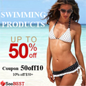 Free Shipping Clearance for Swimwear in SooBest, code 50off10 (valid until 15/09)