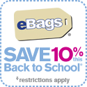 Save 10% This Back to School at eBags.com