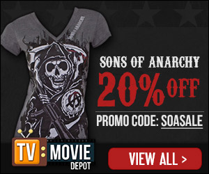 All Sons of Anarchy Apparel & SOA Merchandise 20% Off with Promo Code SOASALE