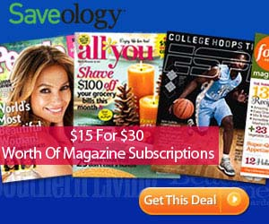 1/2 Off Magazine Subscriptions!  (Great gift idea too)