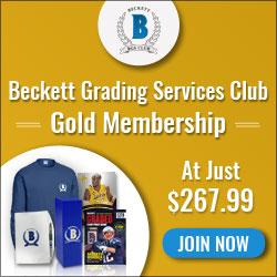 Beckett Media Grading Services Club Gold
