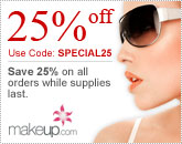 25% off All Orders at Makeup.com