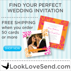 250x250 Wedding - White Invitation