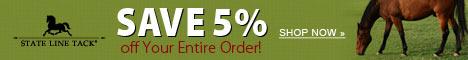 Get $5.99 Flat Shipping at StateLineTack.com