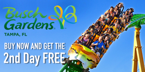 Busch Gardens - Buy 1 Day & Get 2nd Day Free