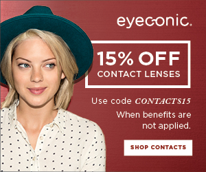 15% Off Contact Lenses at Eyeconic! Use code CONTACTS15