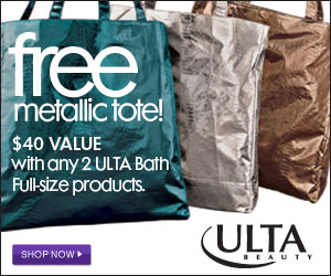 Free Metallic Tote! $40 Value with any 2 ULTA Bath