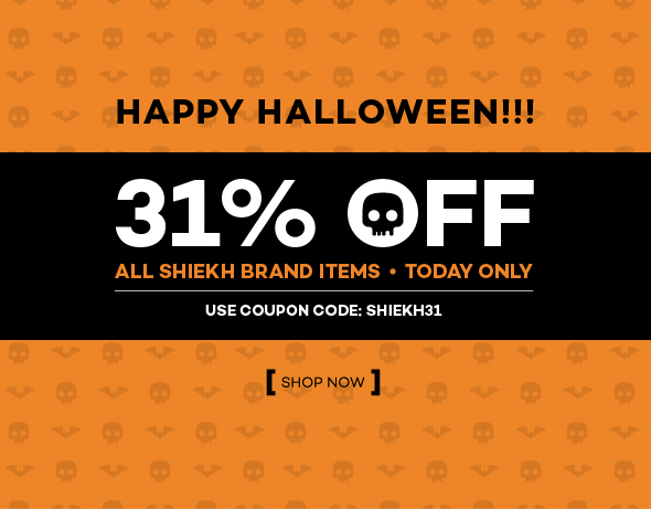 Halloween 31% Off Use Code Shiekh31