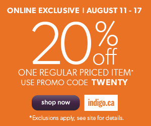 20% Off Any One Item! Use Promo Code: TWENTY. Ends August 17! (Exclusions Apply)