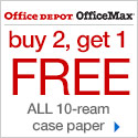 Buy 2 Get 1 Free - ALL 10 Ream Case Paper, Limit 2