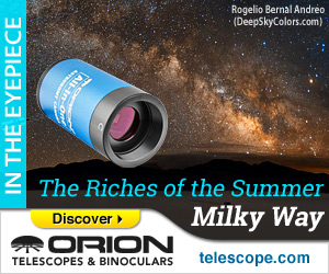 Astronomy gear for viewing the summer Milky Way