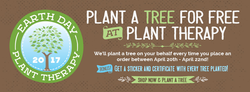Make a Purchase and Plant Therapy will Plant a Tree on Your Behalf, Plus Receive a Sticker and Certi
