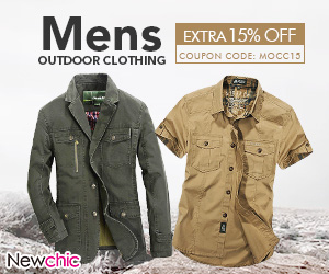 15% Off Mens Outdoor Cothing