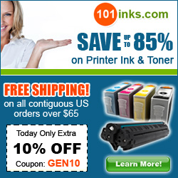 Save up to 85%on Printer Ink and Toner, plua get 10% off with code GEN10!