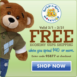 Build-A-Bear Free Shipping on Orders Over $50