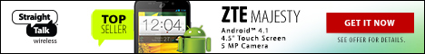 Straight Talk Promo Code for Top Seller - ZTE Majesty