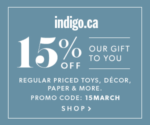 Take 15% Off Regular Priced Decor, Style & More at Indigo.ca!