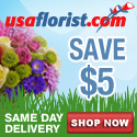 Save $5 on any purchase @ USAFlorist.com
