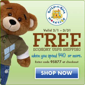 $10 off $40 or more: Code BABW10 BuildABear.com