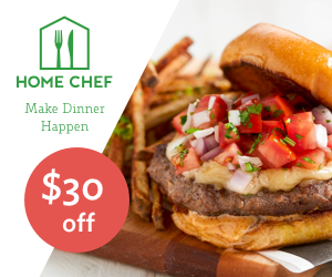 Save $30 on your first order from Home Chef meal delivery