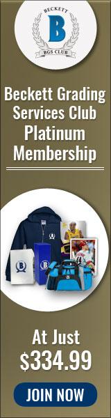 Beckett Grading Services Club Platinum Membership