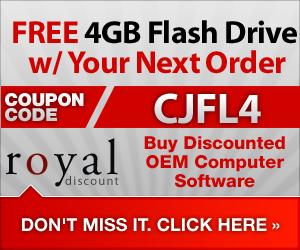 Free 4GB Flash Drive w/ Software order - RoyalDiscount.com