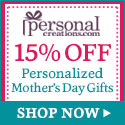 15% off Personalized Gifts for Mom from Personal Creations