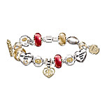 49ers Charm Bracelet With Swarovski Crystals