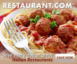 Save Everyday at Great Italina Restaurants