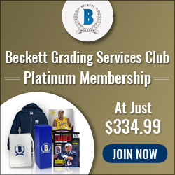 Beckett Grading Services Club Platinum Membership