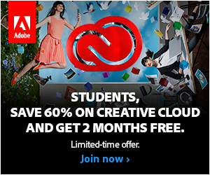 300x250 2015 Back To School: Students and Teachers Save 60% on Creative Cloud and get 2 Months Free