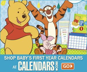 Shop Baby First Year Calendars at Calendars.com