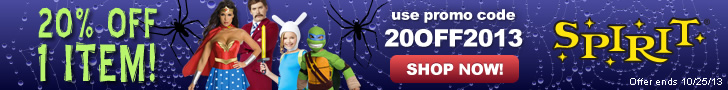 20% Off Spirit Halloween Coupon