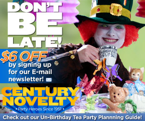 Alice in Wonderland Supplies at Century Novelty