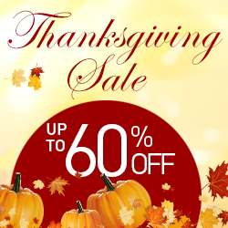 Up to 60% Off Thanksgiving Day Sales