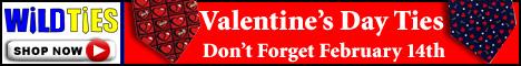 Valentine's Day Ties,heart ties