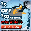 $5 off $50 at WB Shop!