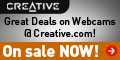 Creative Labs Webcams On Sale NOW