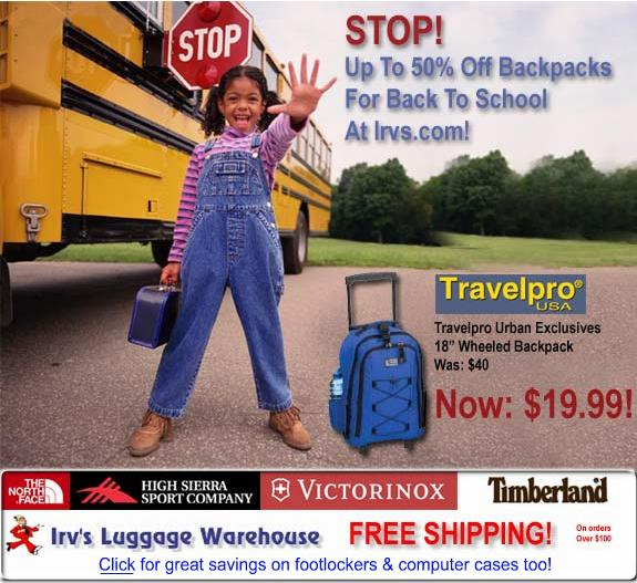 Irvs Luggage Back to School Sale